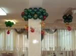новогоднее украшение столовой