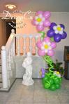 Большой букет из шаров-цветов