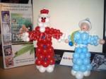Дед мороз и Снегурочка из шаров