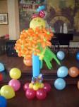 цветы из шаров для гостей