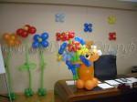 цветы простые с гелием