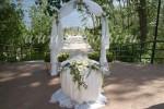 """Площадка """"Парк-Отеля"""", арка с живыми цветами"""