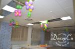 Цветы из шаров на потолок