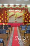 Коррекция украшения сцены на выпускной, ковровая дорожка на  вручение дипломов, школа 88