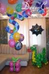 украшение шарами для девочки