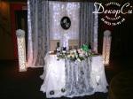 Черно-белое оформление свадьбы
