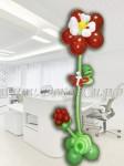 Фигура цветок из 5-ти лепестков с ягодкой малинкой