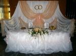 Ширма со свадебными кольцами