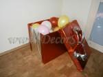 подарочная коробка с шарами