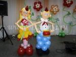 Пионеры из шаров для веселого фото