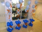 Вазоны из шаров с бантиками