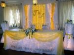 желто-лимонная свадьба