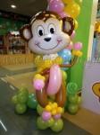обезьянка из шаров