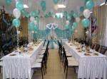 Бирюзовое оформление свадьбы