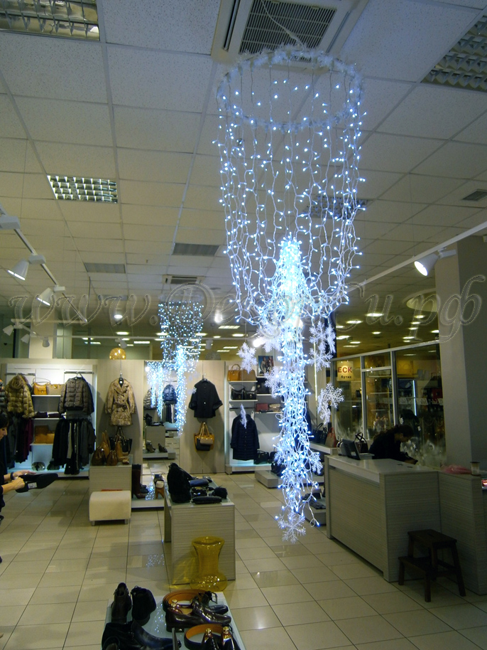 украшения торгового зала на новый год