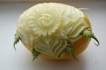 Цветок из дыни