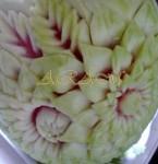 Карвинг из арбуза. Крупный план