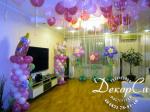 Украшение большой комнаты шарами
