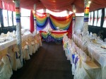 Свадебный зал в цветах радуги