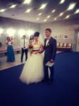 букет невесты в цветах радуги