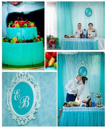 Мятная свадьба или свадьба в цвете Тиффани